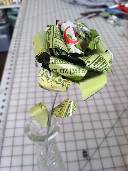 maybe work them into centerpieces? maybe not, but coke can roses are damn cool.