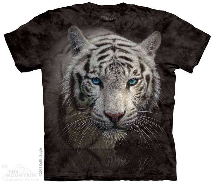 Tricouri The Mountain – Tricou White Tiger Reflection. Find this Pin and  more on prikid t-shirts, of animals ...