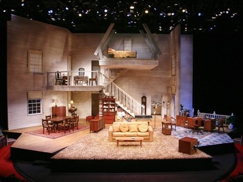 For August: Osage County, set designer Kevin Rigdon turns an Alley into a home