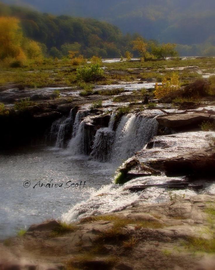 Beautiful Sandstone Falls, West Virginia