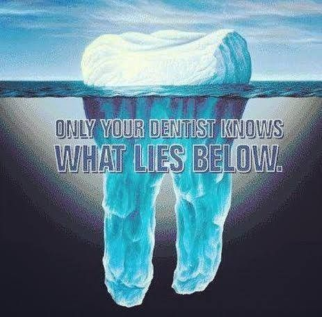 Only your dentists knows what lies below.  Dentaltown - Patient Education Ideas