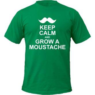 #Tricouri personalizate - Keep calm and grow a moustache - #cadouri