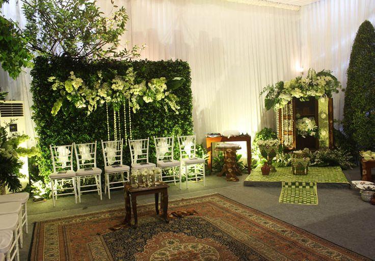 Dekorasi rangkaian bunga+backdrop sungkeman dan siraman