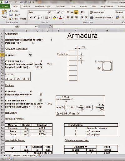 Cómputos métricos en columnas http://ht.ly/EMBwt #Isoluciones #PlanillasExcel