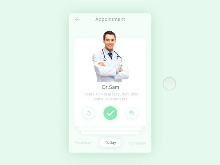 Doctor's Appointment app by Kiran  - Dribbble