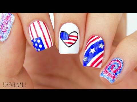 The 25 best fourth of july nails easy ideas on pinterest 4th of fourth of july nails easy 4th of july nail designs youtube prinsesfo Gallery