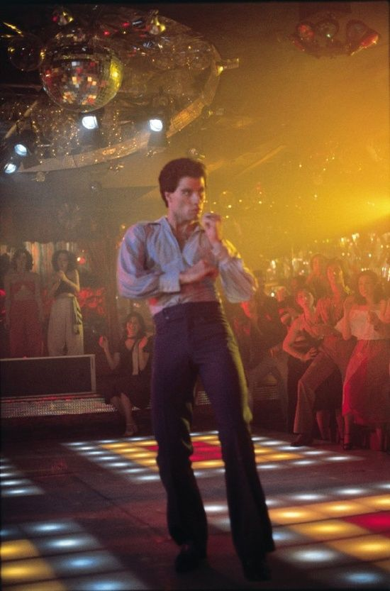 "John Travolta in ""Saturday Night Fever"", 1977."