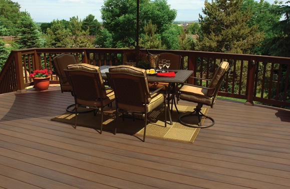 Chestnut Fiberon Pro Tect Decking Outdoor Living