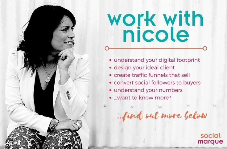 Nicole Smith - Digital Marketing Strategist | Social Marque | socialmarque.com | Work with Nicole + learn how to create traffic funnels using social media.
