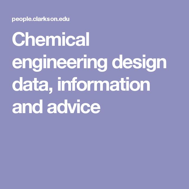 Chemical engineering design data, information and advice