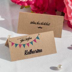 Tischkarte Hochzeit Boho Style