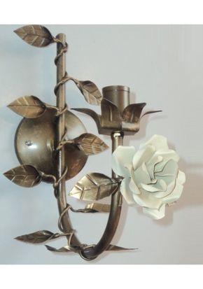 Arandela provence rosa em ferro ( lustre de parede)
