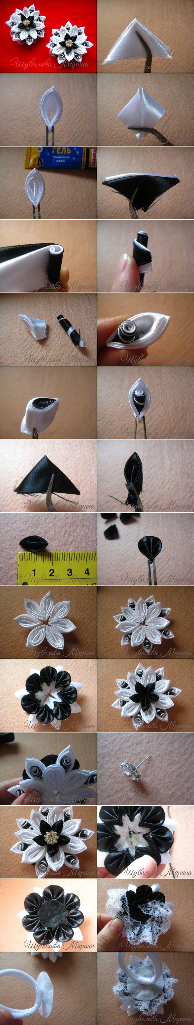 Мастер-класс на резиночки из атласных лент шириной 5 см.