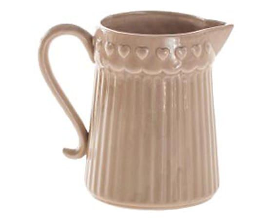 Brocca in ceramica Cuori - 19x18x14 cm
