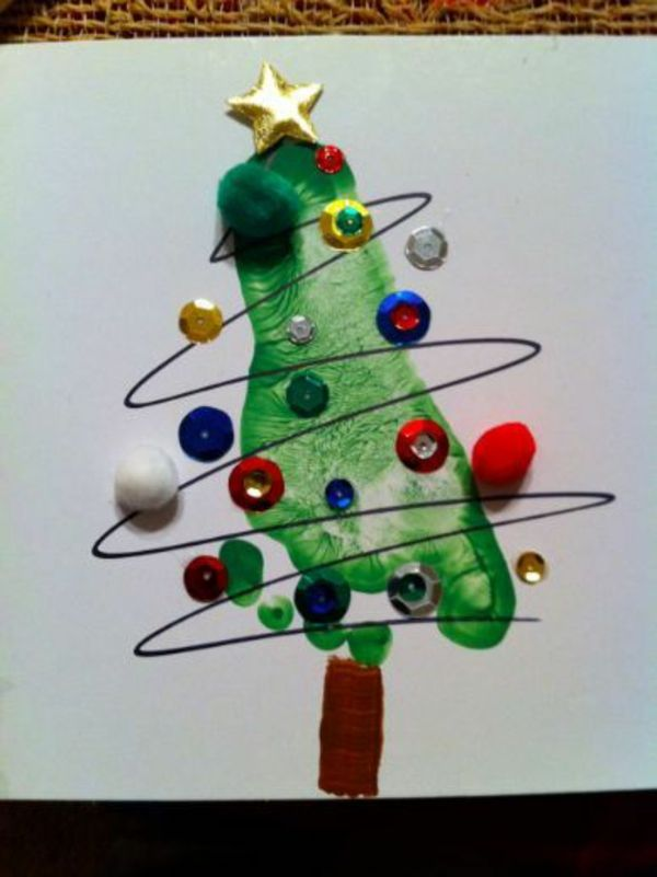 Schöne girlanden kugel Weihnachtskarten selber basteln design                                                                                                                                                                                 Mehr