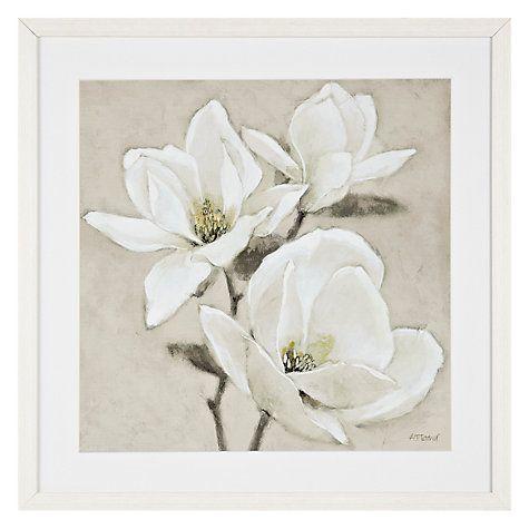 buy adelene fletcher magnolia trio framed print 54 x 54cm online at johnlewis