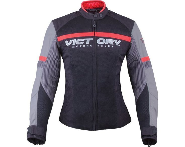 Women's Skyline Mesh Jacket - Black/Gray by Victory Motorcycles 2863737 #Victory #Motorcycle