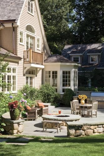 New england home magazine outdoor spaces pinterest for Newengland homes