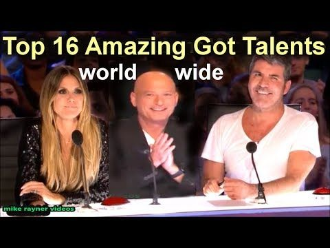TOP 16 AMAZING GOT TALENT AUDITIONS WORLDWIDE, Best Ever First Class Acts, AGT - BGT 2017 - YouTube