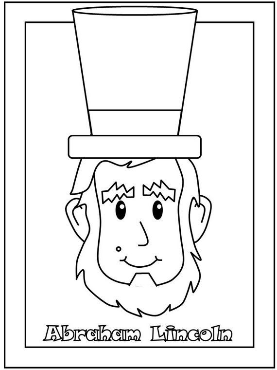 Cute Abraham Lincoln Coloring Pages Coloring Pages For Kids Abraham Lincoln For Kids Coloring Pages