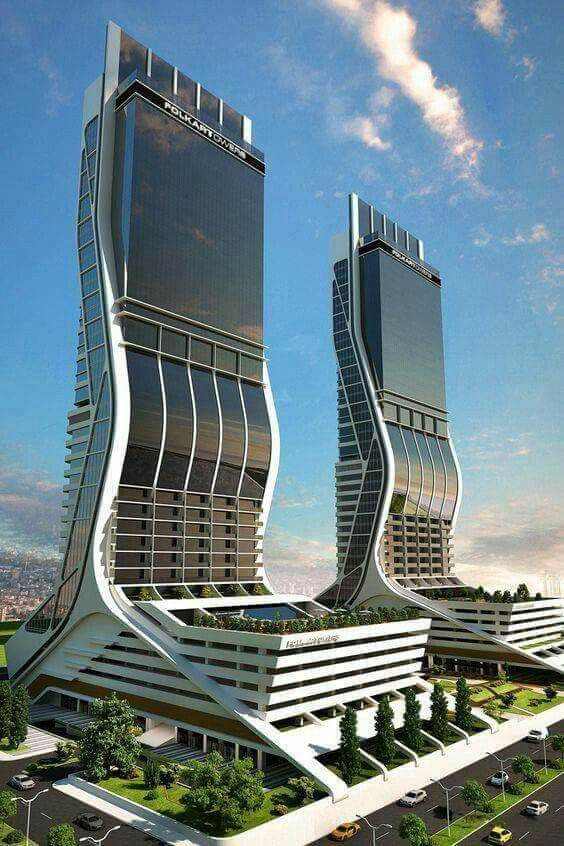 Tower In Turkey Modern Office Building Architecture