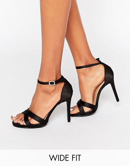 New Look Wide Fit Suedette Barely There Heeled Sandal