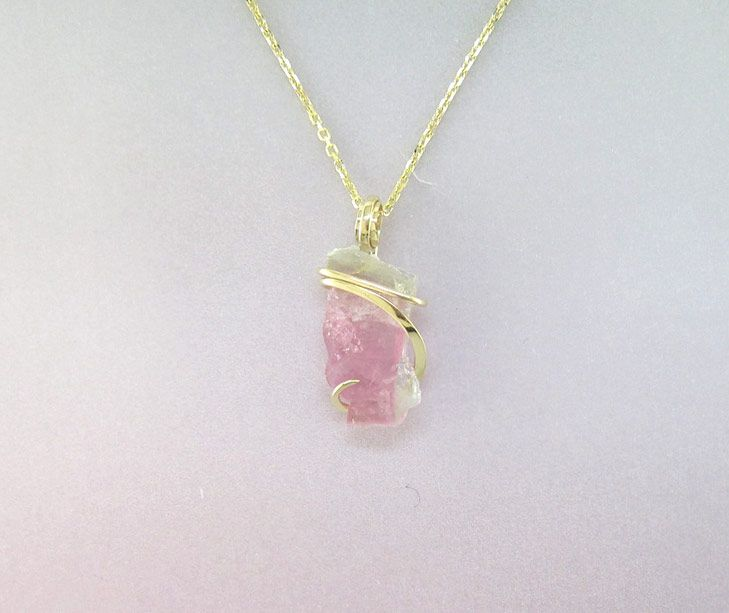 Watermelon tourmaline necklaces Etsy