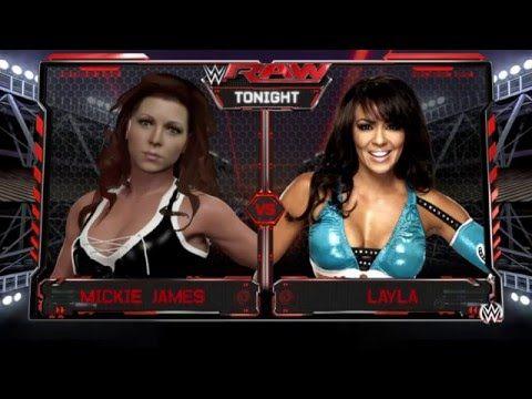 WWE 2K16 - Mickie James vs. Layla - YouTube