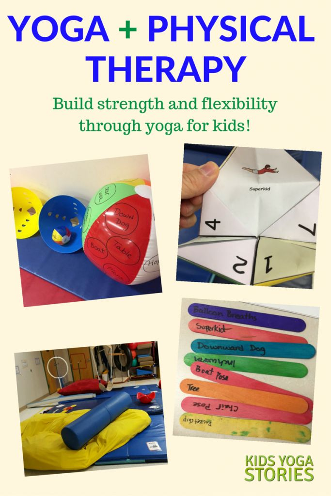Yoga and Physical Therapy for Kids (build strength and flexbility with these 7 yoga game ideas) | Kids Yoga Stories