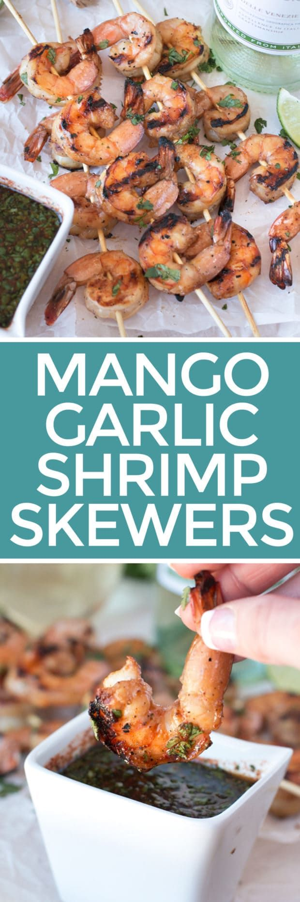 Mango Garlic Shrimp Skewers with Spicy Cilantro Dipping Sauce – Cake 'n Knife
