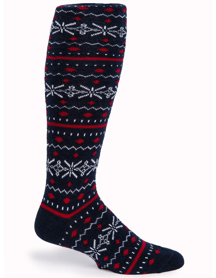 Fair Isle Knee High Fashion Socks - Side
