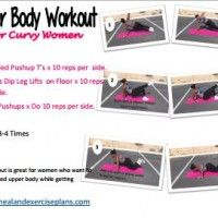 Upper Body Workout for Curvy Women | Decembers Fitness Meal and Exercise Plans