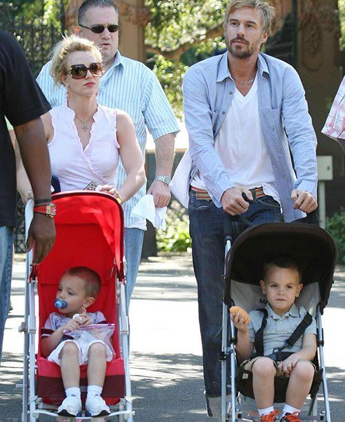 Sean Preston and Jayden James, 2009 Britney Spears, who filed for divorce from ex-husband and dancer Kevin Federline in 2006, takes a stroll with her sons and then-boyfriend Jason Trawick in Sydney, Australia.
