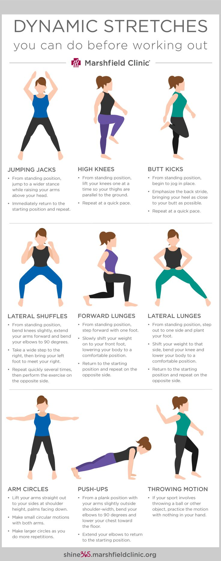 warm up exercise Sparkpeople's exercise reference guides offer an in-depth look at the principles of fitness what is a warm up a warm up is the act of preparing for an athletic event or workout by exercising or practicing for a short time beforehand warming up helps reduce.