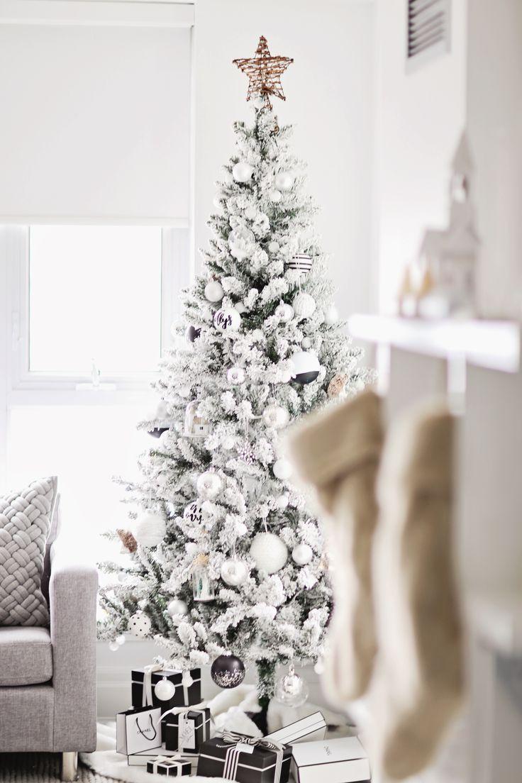 best 20 flocked christmas trees ideas on pinterest. Black Bedroom Furniture Sets. Home Design Ideas