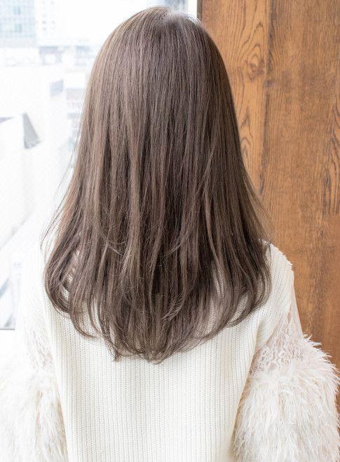 セミロング 大人かわいいセミディ Afloat Japanの髪型 ヘアスタイル