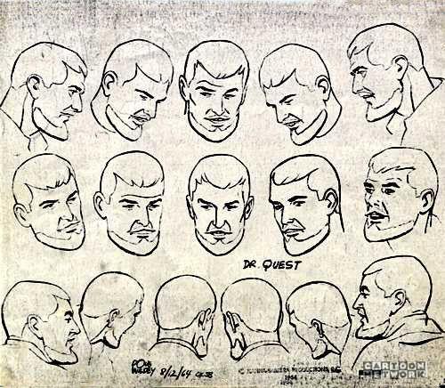 "Model Sheet Monday ""Jonny Quest"" 1964-1965"