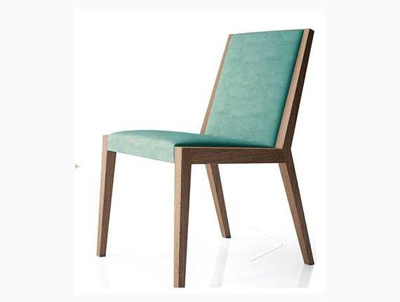 silla moderna tapizada