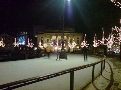 outdoor skating rink of Kongens Nytorv (Copenhagen)