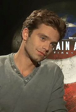 I wish someone (Sebastian Stan) could look at me like this