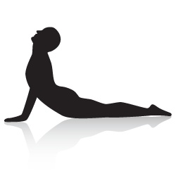 Cobra Yoga Pose (Full) - Strengthens the back muscles and backs of legs; opens the chest.