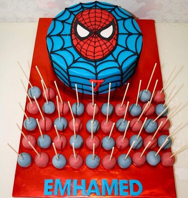 Emhamed's spiderman-Cake and cakepops                                                                                                                                                                                 More