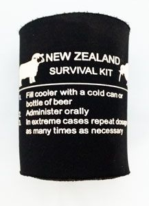Make sure you survive when you visit New Zealand with this instructional aid and cooler!