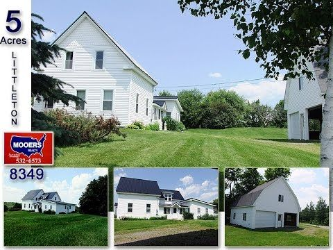 Maine Real Estate Listing, Littleton Farm, Home, Barn. MOOERS 8349 - YouTube