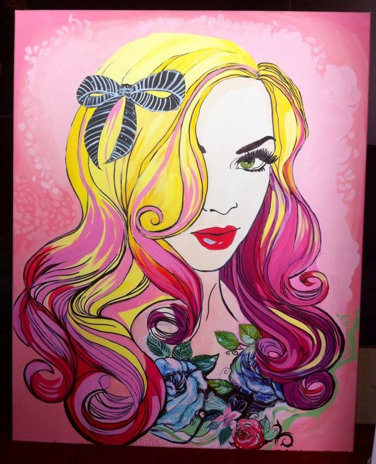 'Lady Rose' by Dagmara Rybak Acrylic on canvas; 80 x 100 cm; Pop Art; 2014.  One of the best ones during auction in October. More details soon. www.studentartworks.org