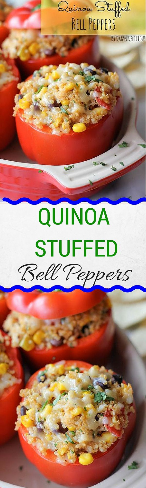 Quinoa Stuffed Bell Peppers by Damn Delicious