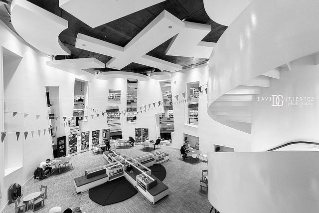 """Learning Curve"" Clapham Library, London, UK. Image by David Gutierrez Photography, London Photographer. London photographer specialising in architectural, real estate, property and interior photography. http://www.davidgutierrez.co.uk ‪#‎realestate‬ ‪#‎property‬ ‪#‎commercial‬ ‪#‎architecture‬ ‪#‎London‬ ‪#‎Photography‬ ‪#‎Photographer‬ ‪#‎Art‬ ‪#‎UK‬ ‪#‎City‬ ‪#‎Urban‬ ‪#‎Street‬ ‪#‎Beautiful‬ ‪#‎Interior‬ ‪#‎Library‬ ‪#‎BlackAndWhite‬ ‪#‎Monochrome‬ ‪#‎BlackAndWhitePhotography‬ ‪#‎Arts‬ ‪"