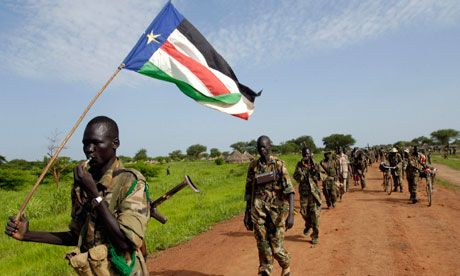 Sudan People's Liberation Army soldiers. The village of Kurchi is controlled by Nuba people enrolled in the SPLA of South Sudan. Photograph:...