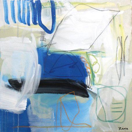 """Jennifer Rivera, """"Falling Slowly"""",24"""" X 24"""", acrylic/graphite/pastel stick on canvas"""