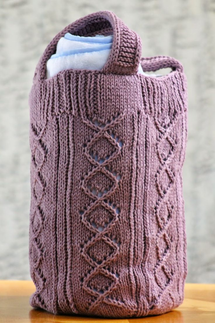 Knitting Needles And Yarn Weight : Rose briar bag made with roughly yards of worsted